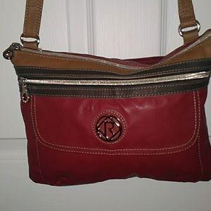 Relic leather crossbody bag